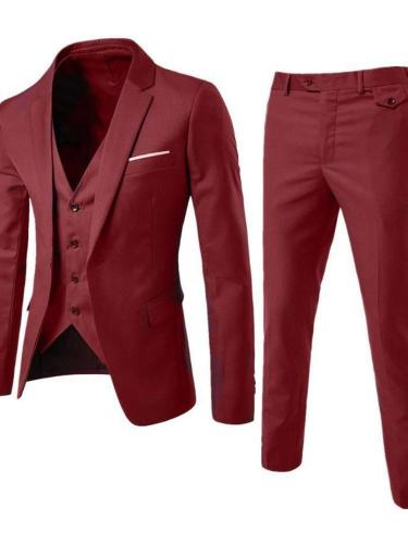 Plain Casual One Button Dress Suit