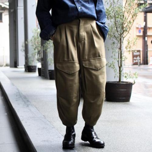 Men's Casual Loose Big Pocket Radish Trousers YT009