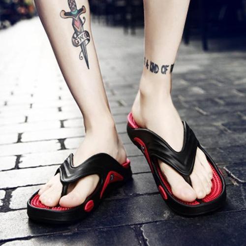 Men's Non-Slip Beach Shoes Outdoor Clip Toe Slippers