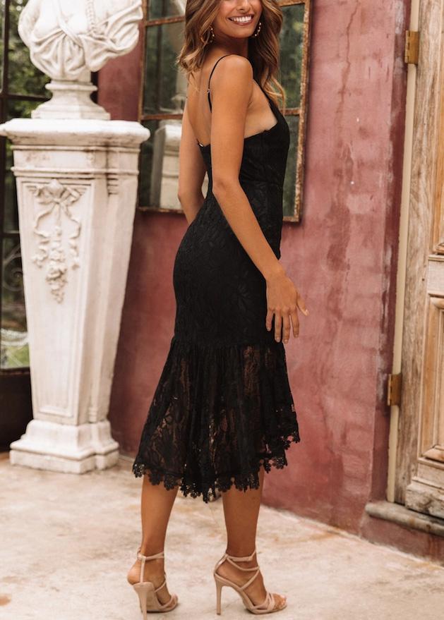 Fashion sexy sling stitching   ruffled dress