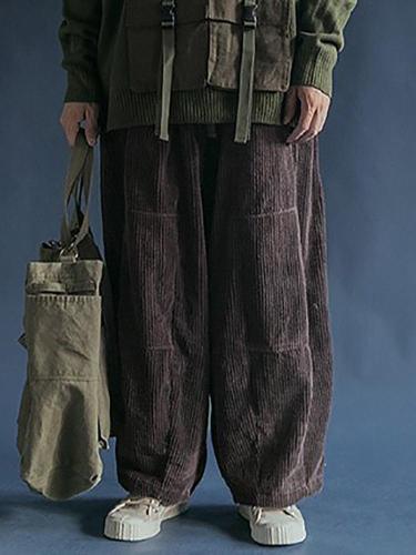 Men's Plain Straight Casual Pants YT009