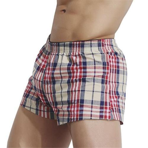 Fashion Casual Vacation Slim Plaid Elastic Waist Underwear