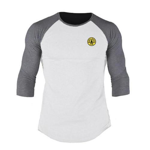 Summer Men Round Neck Slim Sports Casual T-Shirts