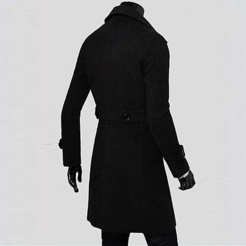 Men Jacket Warm Winter Slim Stylish Trench Coat Double Breasted Male Casual Windbreaker Overcoat Jackets Coats Wool Blends