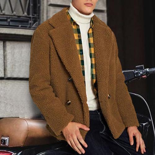 Stylish and casual warm lamb coat