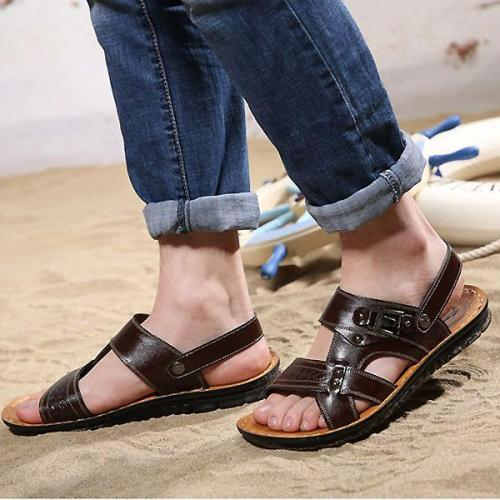 Mens Summer Opened Toe Hollow Beach Sandals