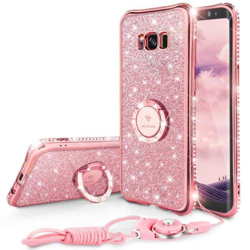 Bling Diamond Luxury Magnetic Case With Ring Holder For Samsung S8 S8 Note 8