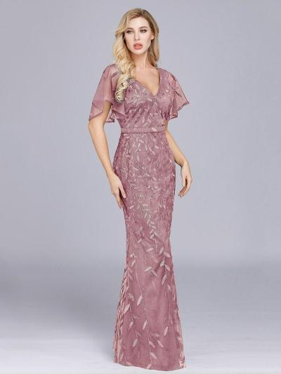 Sparkle Sexy Mermaid Evening Dresses Long Sequined V-Neck Sparkle Evening Gowns For Party Vestidos Largos Fiesta 2019 New Dress