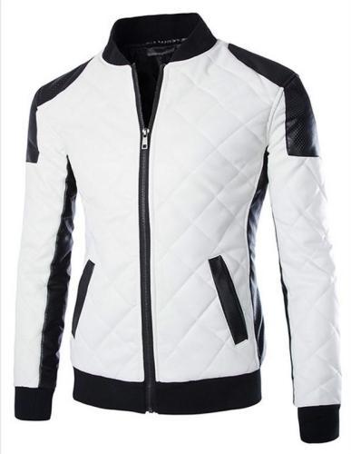 Men's Basic Plus Size Color Block Jacket