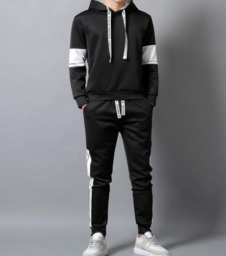 Men Hooded Sport Suit