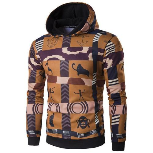 Chic Casual Floral Printed  Cotton Hoodie