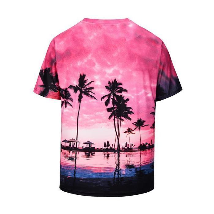 Sunset Cloud Coconut 3D Print T-Shirt
