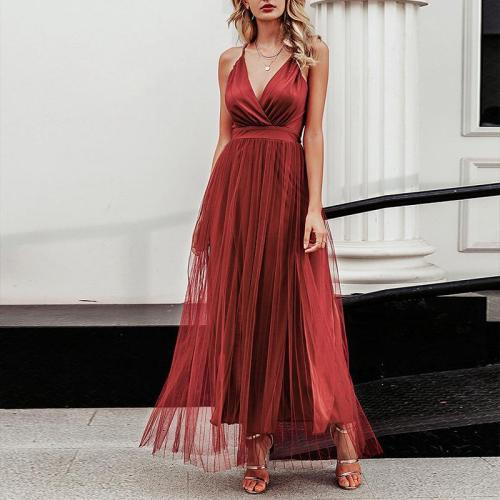 Sexy V-Neck Slit Evening Dress