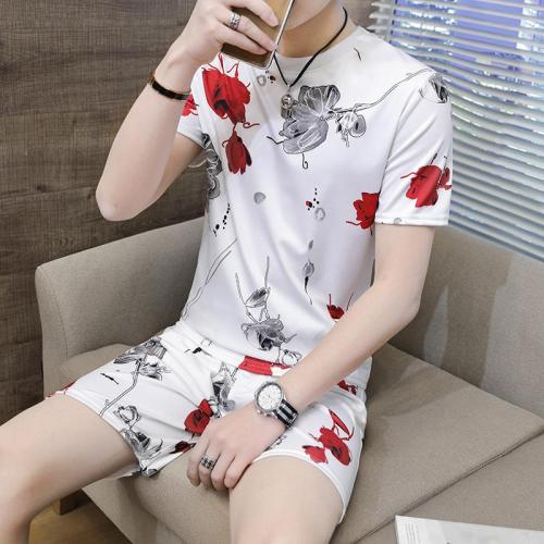 sport suit New products in summer 2020 mens sports suits Multicolor printed T-shirt + shorts casual jogging suits men fashion