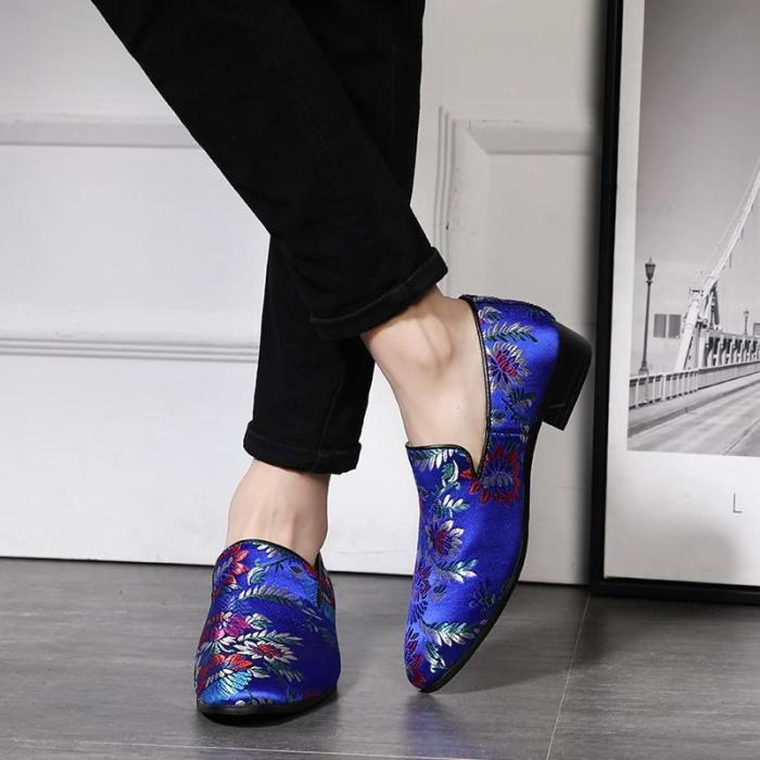 Loafers - Handmade Embroidery Colorful Business Shoes
