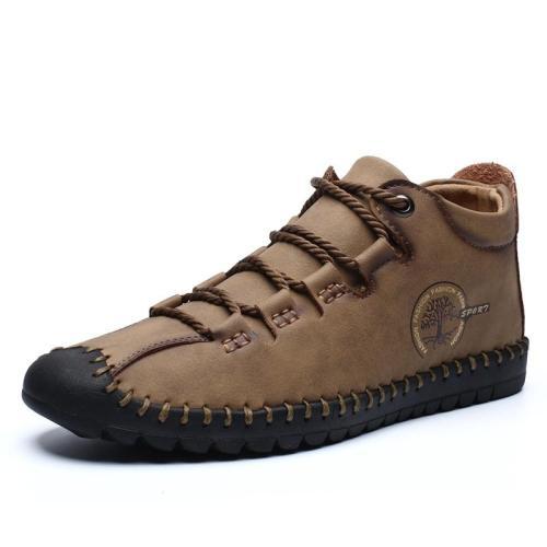 Men's Leather Boots 2020 Leather Men's Ankle Boots Autumn Men Boot Shoes Fashion Men Casual Ankle Shoes Male Boot Shoes