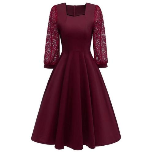 robe de soiree 7 minutes of sleeve lace evening dress 2019 elegant formal dress party Big yards evening gowns dinner dresses