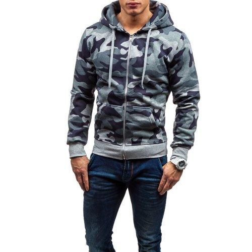 Fashion Mens Camouflage Long Sleeve Hoodie
