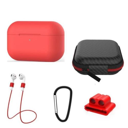 5 IN-1 Airpods Pro Soft Silicone Earphones Case Storage Box