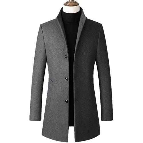 2020 Spring Men Wool Blends Coats Autumn New Solid Color High Quality Men's Wool Jackets for Men Wool Coat Men