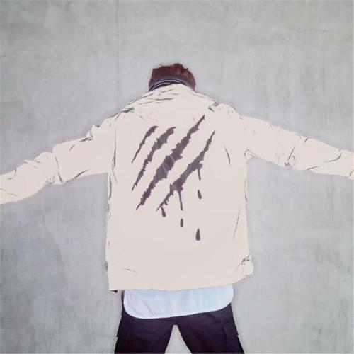 3M reflective luminous mens jacket scratch printing hip-hop personality men women coats spring Autumn hooded Fluorescent jackets