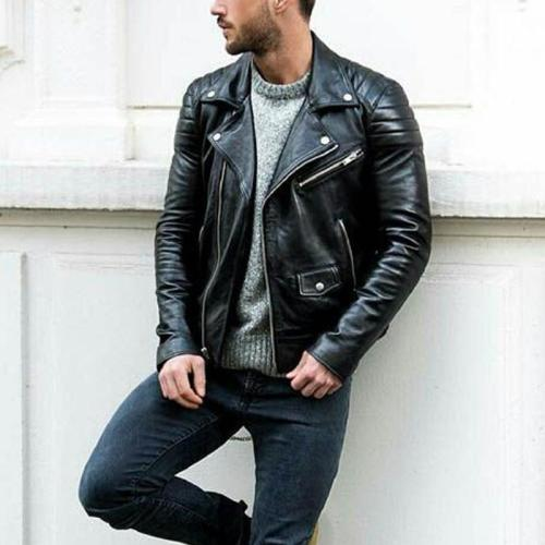 Must Have Terminator Men's PU Leather Jacket