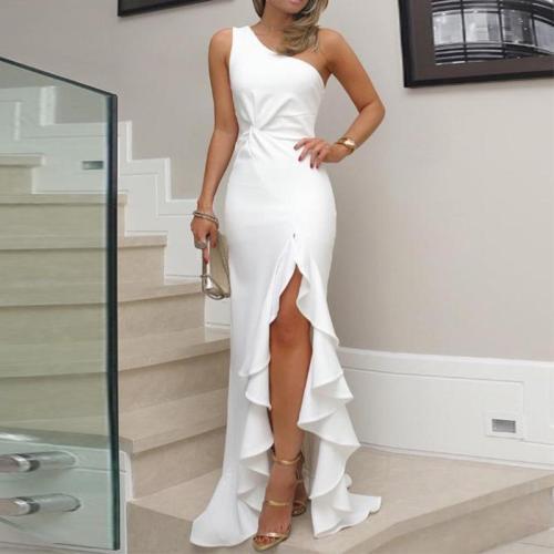 Sexy Elegant One Shoulder Maxi Dress