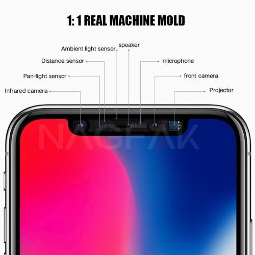 5D Curved Anti-Scratch Full Cover Tempered Glass For iPhone X