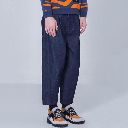 Mens Fashion Solid Colour Loose Jeans LH027