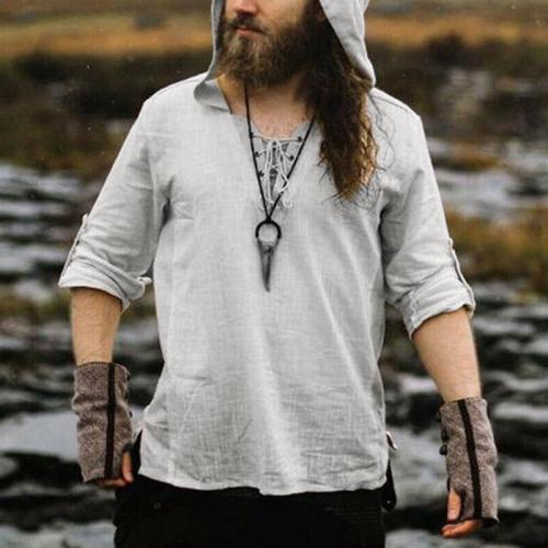 Men's Long-sleeved Hood T-shirts