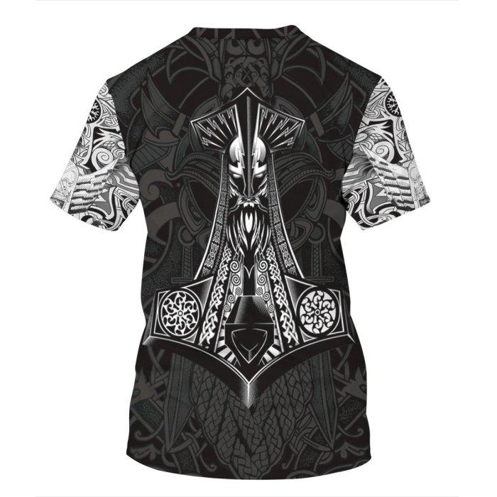 3D Viking Myth Printed Funny Men T-shirt Loose Casual Novelty Short Sleeve Tees Top