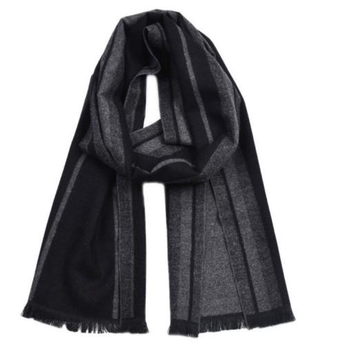 British gentleman color woven cotton striped tassel scarf