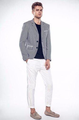 Blazer Mens Slim Fit Blazer Slim Masculino Business Casual Mens Stylish Blazer Spring Slim Two Button Fit Dot Striped Blazers