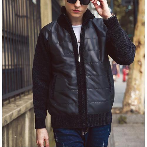 Plus velvet collar cotton short fashion jacket wild clothes men