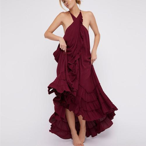 Casual Pure Colour Sleeveless Maxi Dress