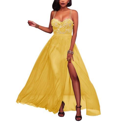 Sexy Lace Off Shoulder Backless Split Dress