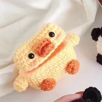 Winter Warm Plush Cartoon Duck AirPods Pro Case Shock Proof Cover