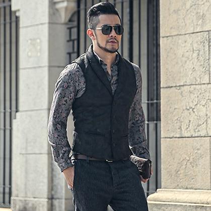 Bag Post Winter Retro Color Fur One Body Men's Slim Jacket Winter Men's Warm Vest M52