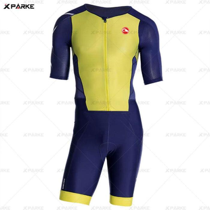 2020 hpit fox new summer outdoor body triathlon men cycling jersey MTB bike skinsuit sport suit ciclismo clothing cycling suit