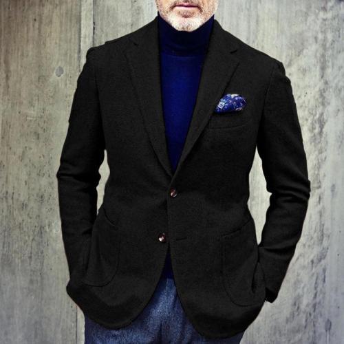 Men's Casual Solid Color Long Sleeve Blazer