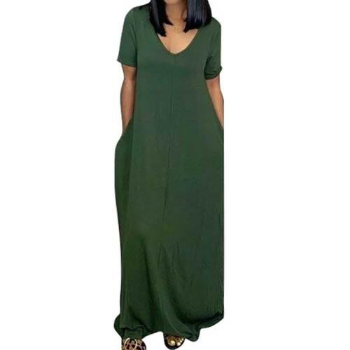 Oversize Long Dress Women Loose Dress Female Fat V-neck Off Shoulder Maxi Dresses