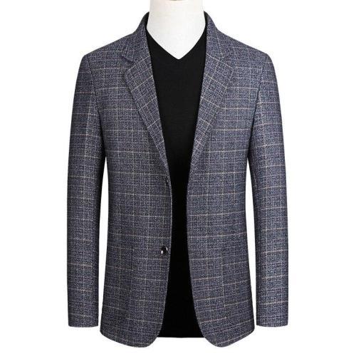 KUYOMENS New Men's Suit Jacket 2020 Spring Autumn Street Men's Plaid Suit Jacket Casual Business Brand Clothing Men Slim Blazer