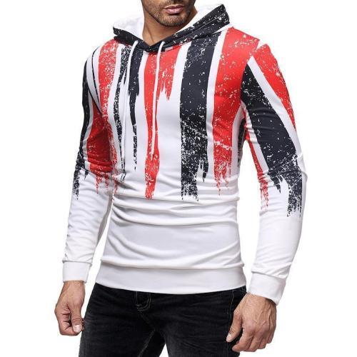 Fashion Color Blocking Slim  Hoodie