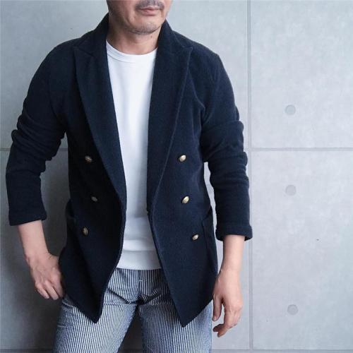 Fashion Men's Solid Color Long Sleeve Blazer