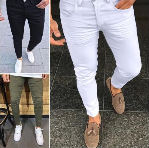 Fashion Plain Slim Fit Tight Pants