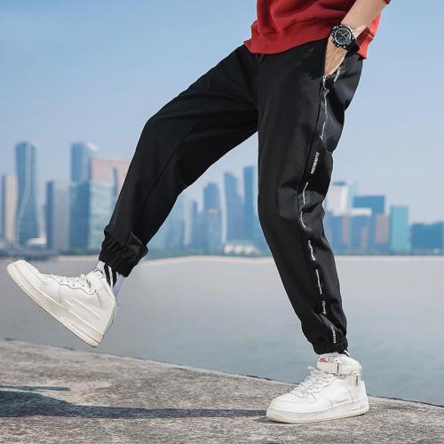 Mens Fashion Splicing Loose Pants