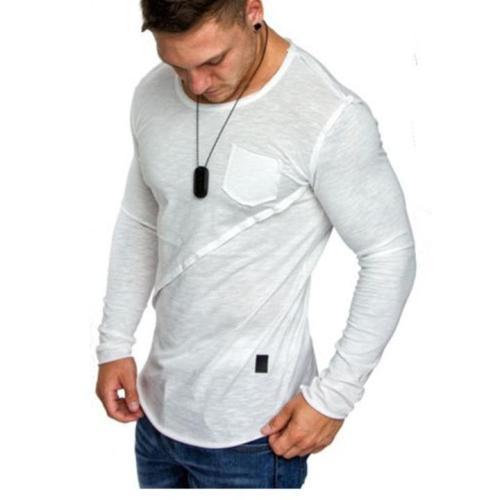 Fashion Round Collar Split Joint Cotton Shirt