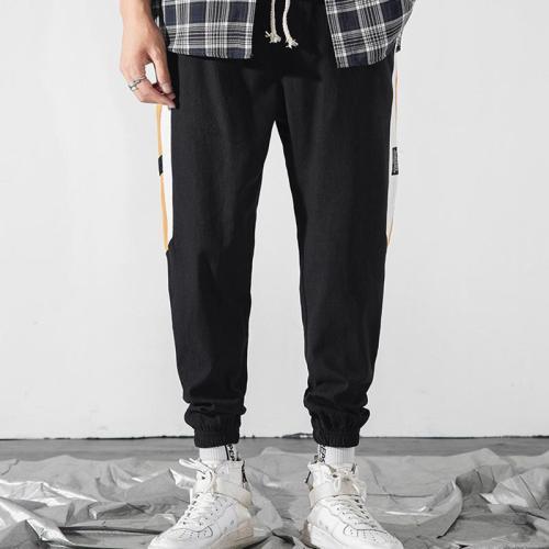 Mens Fashion Splicing Loose Sports Pants LH023
