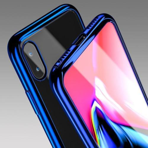 Luxury Plating Full Protection Case For iPhone X/8/7 with Temper Glass(BUY 2 TO GET 10%OFF! )