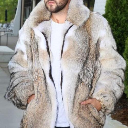 Fashion Suit Collar Faux Fur Long Coat